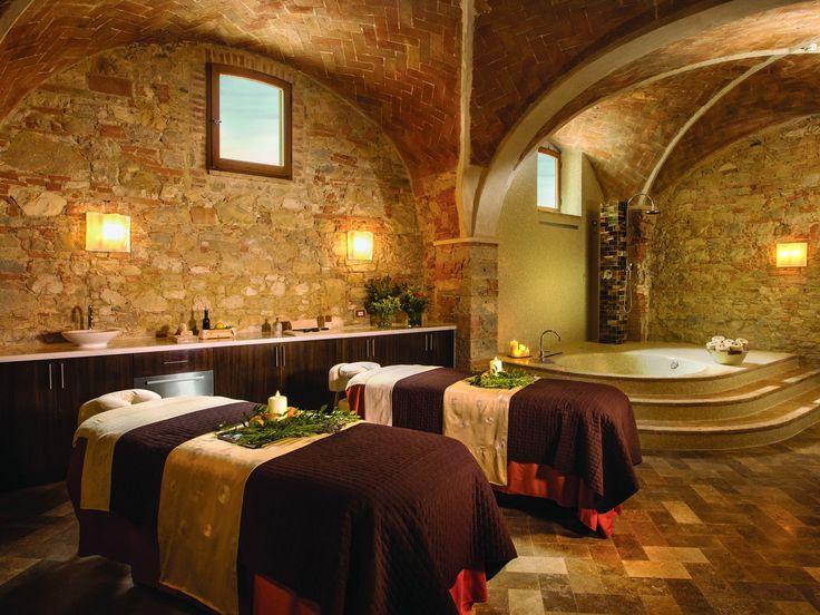 In Tuscany, Take a Red Wine Bath at Castello di Casole - Condé Nast Traveler