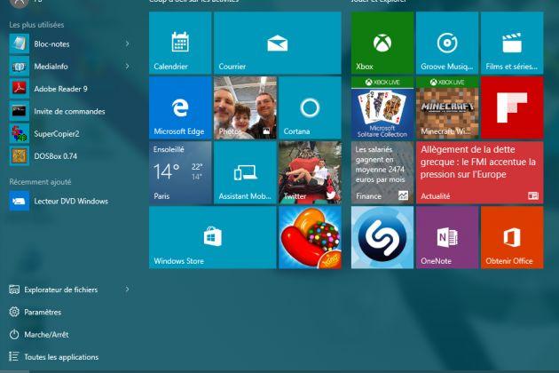 Windows 10 : maîtrisez le nouveau menu Démarrer