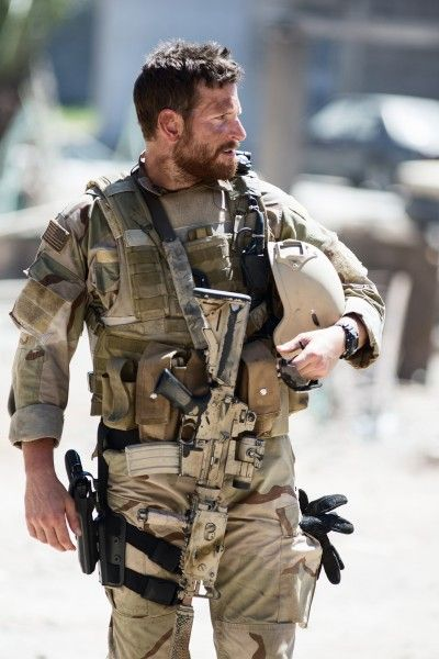 Bradley Cooper as Chris Kyle in American Sniper. Not only am I madly in love with ultrabeefybuff BCoop all over again now, but this movie is PHENOMENAL.