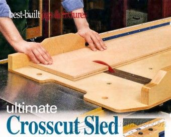 Small Parts Table Saw Sled Plans - Table Saw Tips, Jigs and Fixtures - Woodwork, Woodworking, Woodworking Tips, Woodworking Techniques