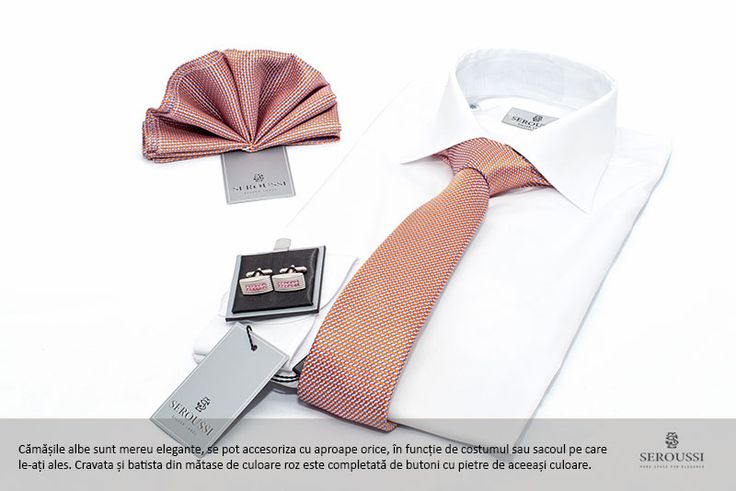 White shirt + pink accessories.... and many more in the Seroussi stores