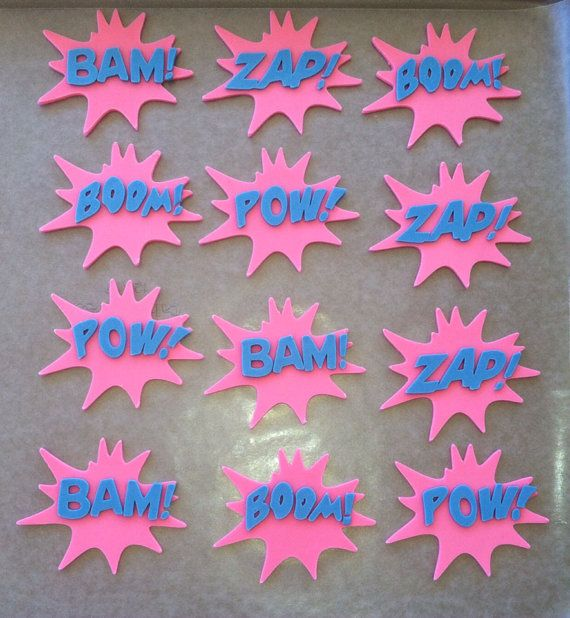Fondant Girl Super Hero Sayings Name & Age by CreativeFondants