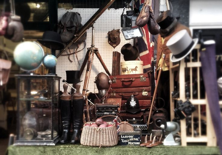 A typical (or not so typical) market stall on Portobello Road.