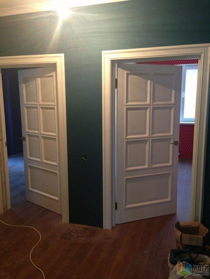 Двери в квартире, белые двери фото