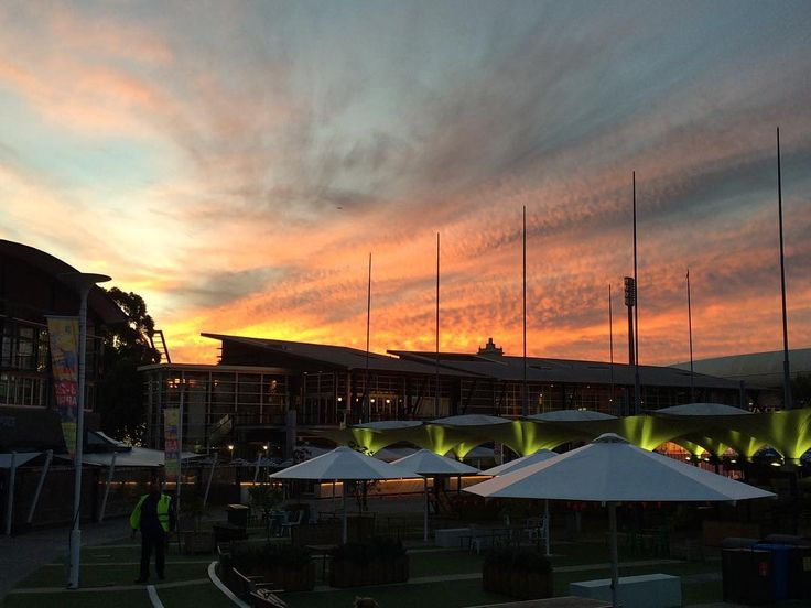 Panorama of clouds at sunset from The Entertainment Quarter Moore Park Sydney - #clouds #sunset #panorama #MoorePark #Sydney #eqmoorepark #entertainmentquarter
