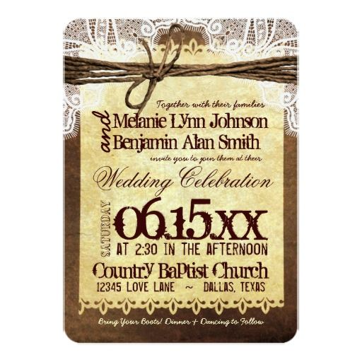 10 best Western Invitations images on Pinterest Western