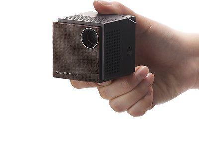"UO Smart Beam Laser Portable HD Pico Projector LCoS WiFi 2.2"" Cube SK Telecom"