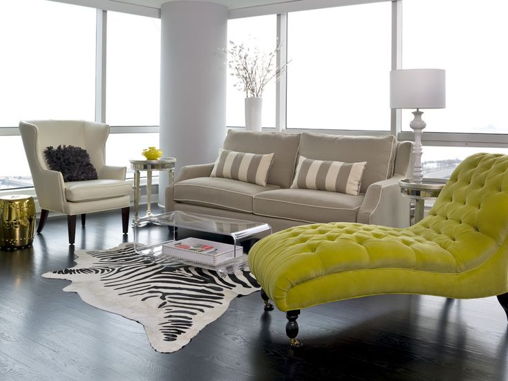 Wonderful Oversized Chaise Lounge Living Room Transitional With Chaise Longue  Contemporary Dark Hardwood Floor Gold1