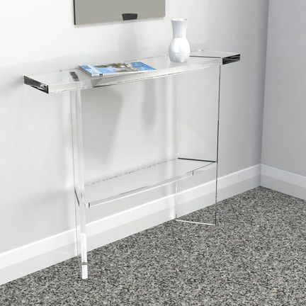 a handmade stylish clear acrylic console table a wide range of acrylic or perspex furniture from luminati