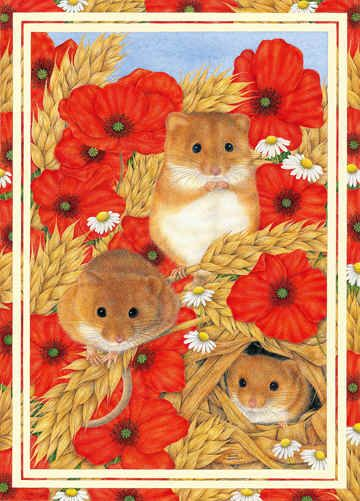 """Three Fat Mice"" by Anne Mortimer."