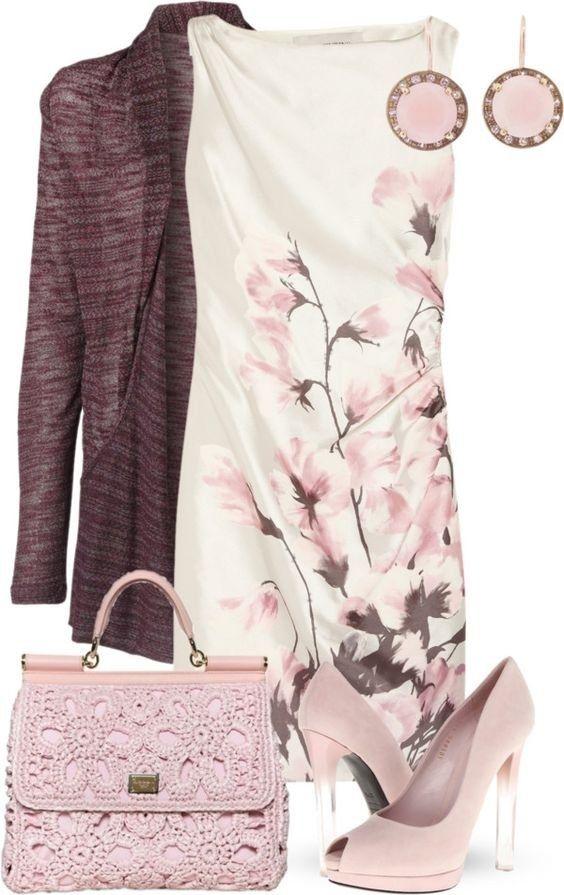 С чем сочетать платья с цветочным принтом 4