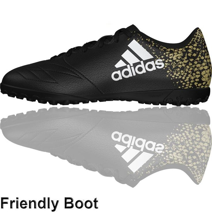 The Football Nation Ltd - adidas X16.4 Turf Shoes (TF - Black/White/Gold), £39.99 (http://www.thefootballnation.co.uk/adidas-x16-4-turf-shoes-tf-black-white-gold/