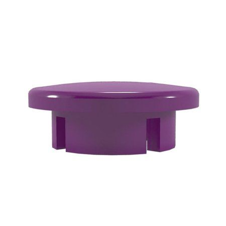 PVC Pipeworks 1/2 inch Dome PVC Furniture Grade Cap in Purple - Internal Fit (4-Pack)