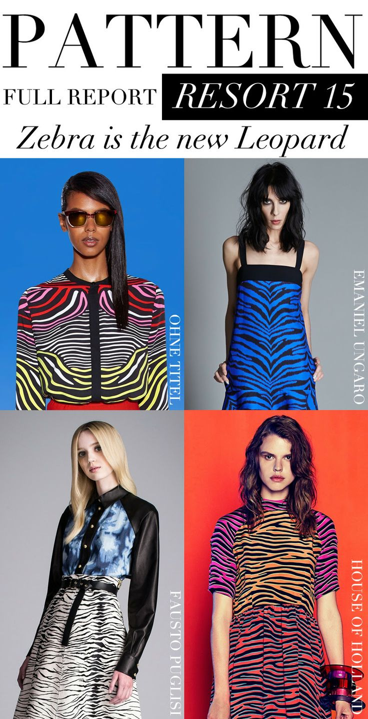 Trend Council:  PATTERN Full Report, Resort '15 - Zebra is the new Leopard