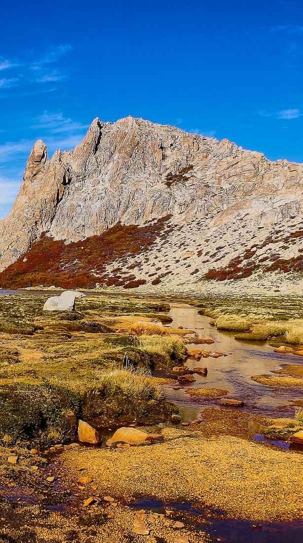 Landscape near Refugio Frey in Bariloche, Argentina