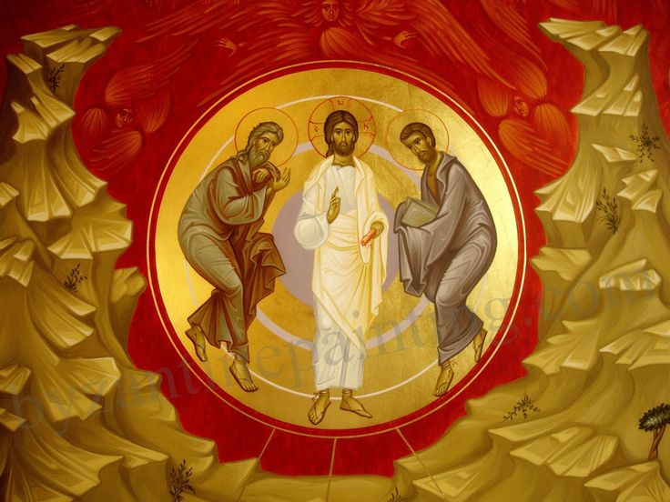 The transfiguration of Jesus Christ
