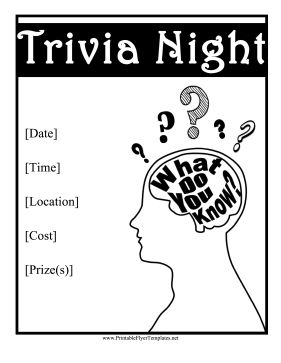 16 best Fundraising: Trivia night images on Pinterest