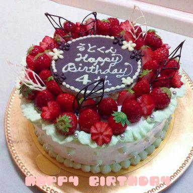 お誕生日ケーキ。21㎝サイズ