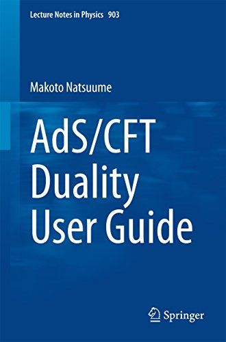 AdS/CFT Duality User Guide (Lecture Notes in Physics) de [Natsuume, Makoto]