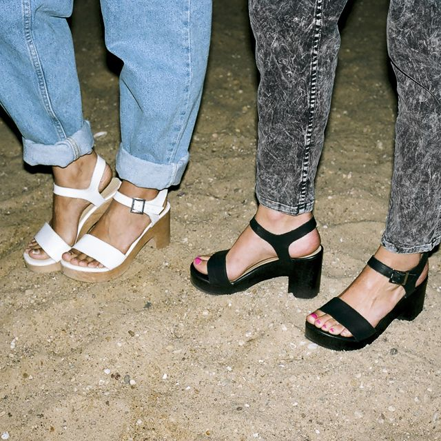 Denim and the Wooden Heel Sandal.