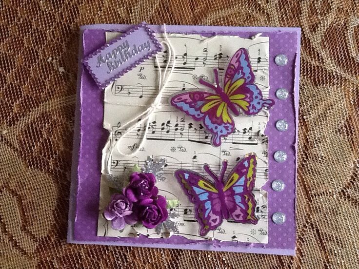 Flowers from dusty attic, butterflies from my stash, music sheet from op shop Adelaide.