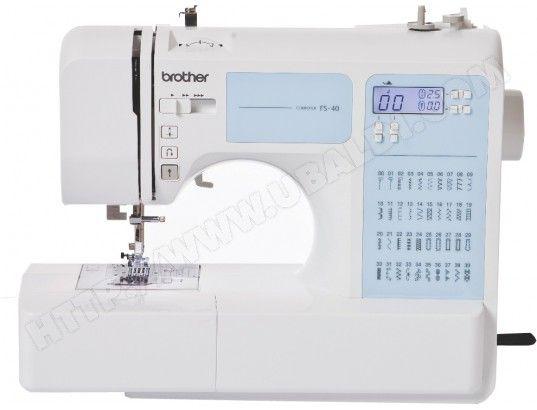 La machine à coudre électronique FS40 de BROTHER est d'une simplicité déconcertante !    Grâce à ses fonctions soigneusement pensées, vous ...