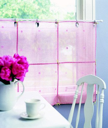 Creative Clips for Sheer Cafe Curtains