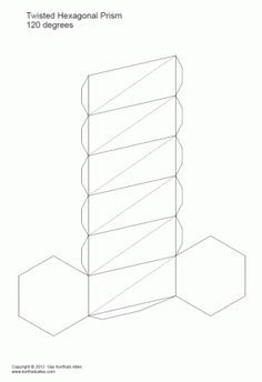 prisma pentagonal torcido   B   Pinterest   Models