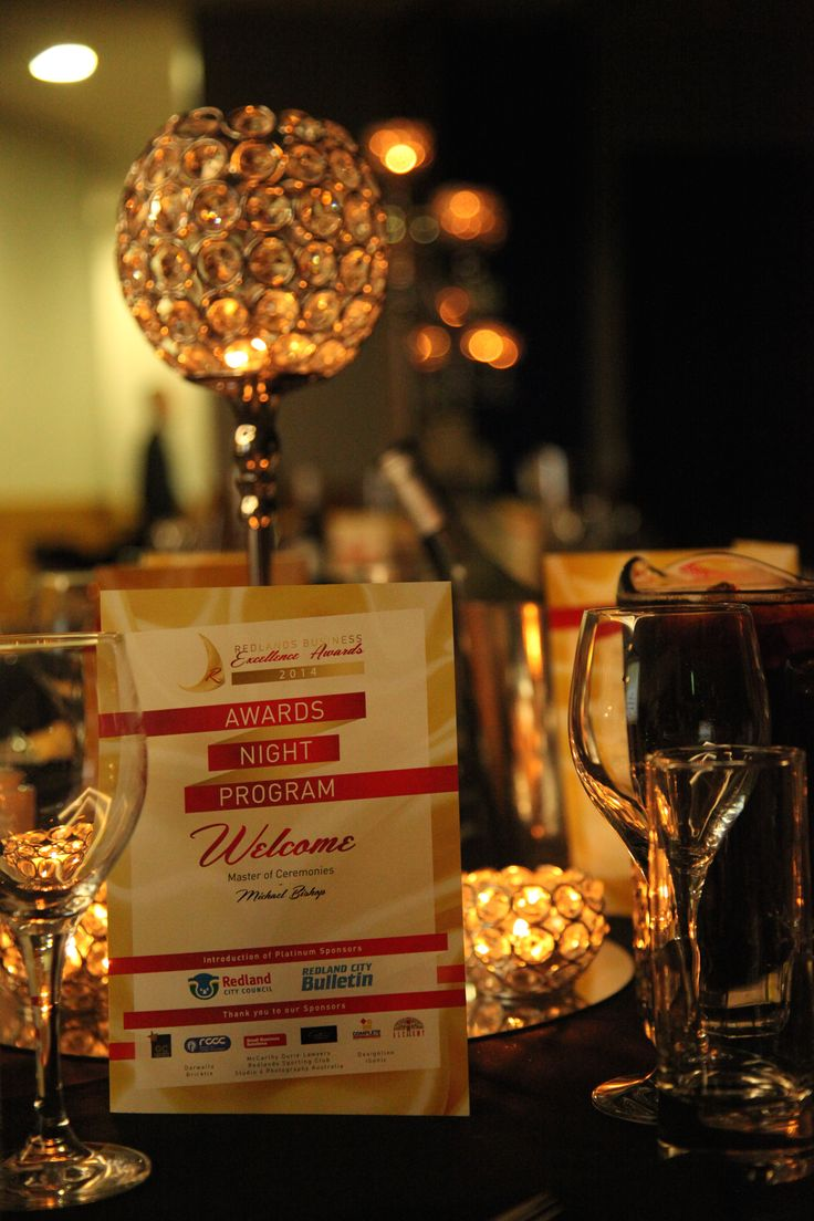 Redlands Business Excellence Award 2014 organised by Coco Weddings and Events.