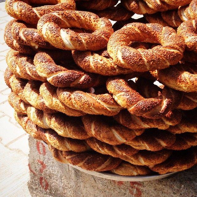 Simit - Turkish sesame bread rings === @pascaledg Instagram photos