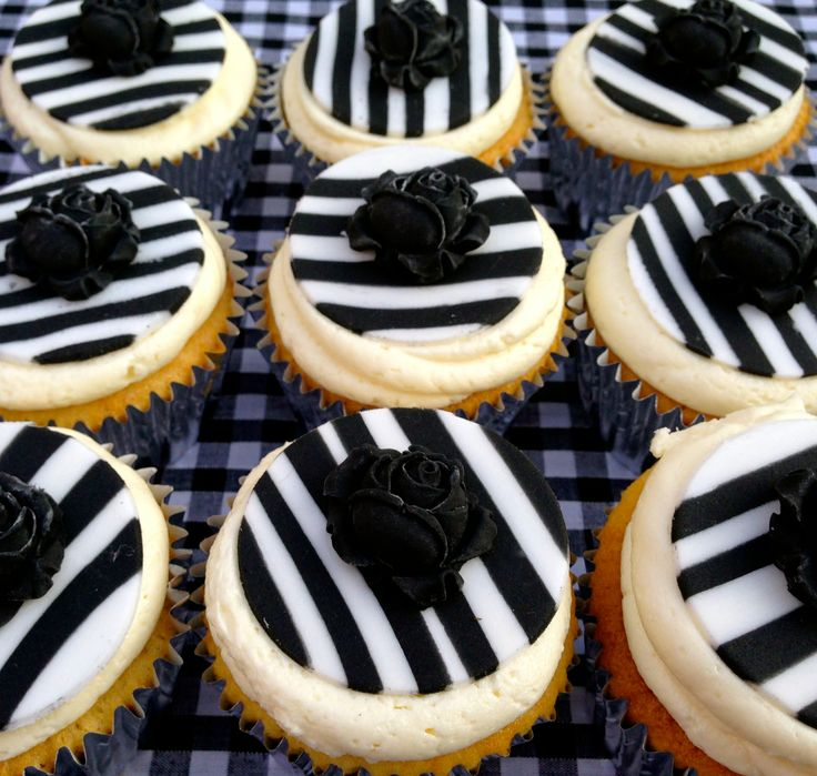 Stripy Cupcakes. Handmade by Stace