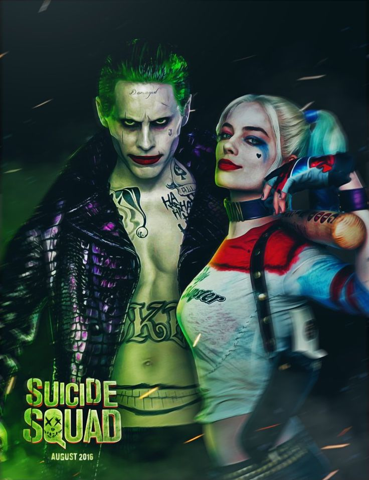 Suicide Squad Joker and Harley by ehnony