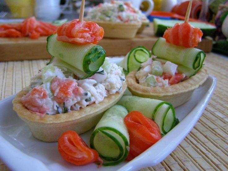Тарталетки с красной рыбой салат рецепт с фото пошагово ...