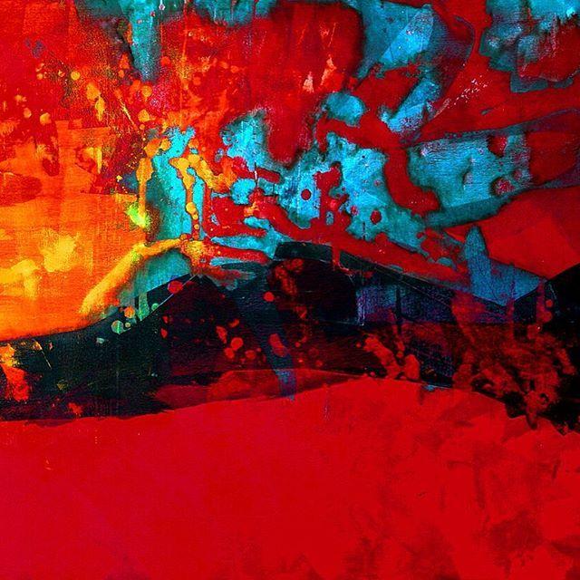 @josefinakunstler #energy #boost #starting #new #week 👊#fullofart #color #red #abstract #expressionism #art #artwork #arte #arteencolombia