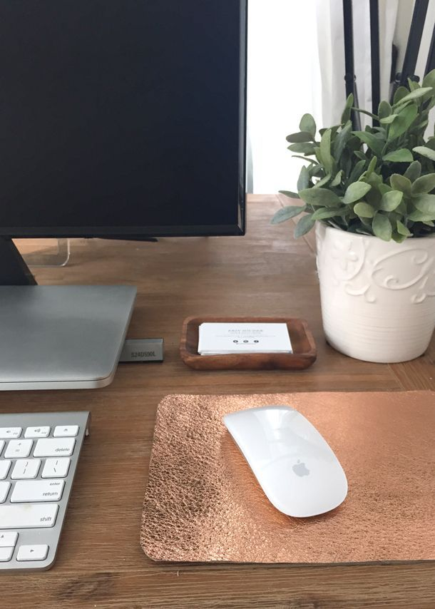 Rose Gold Leather Mousepad DIY