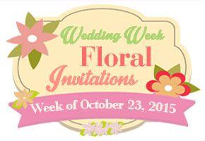 Wedding Week #13: Floral-inspired Wedding Invitations