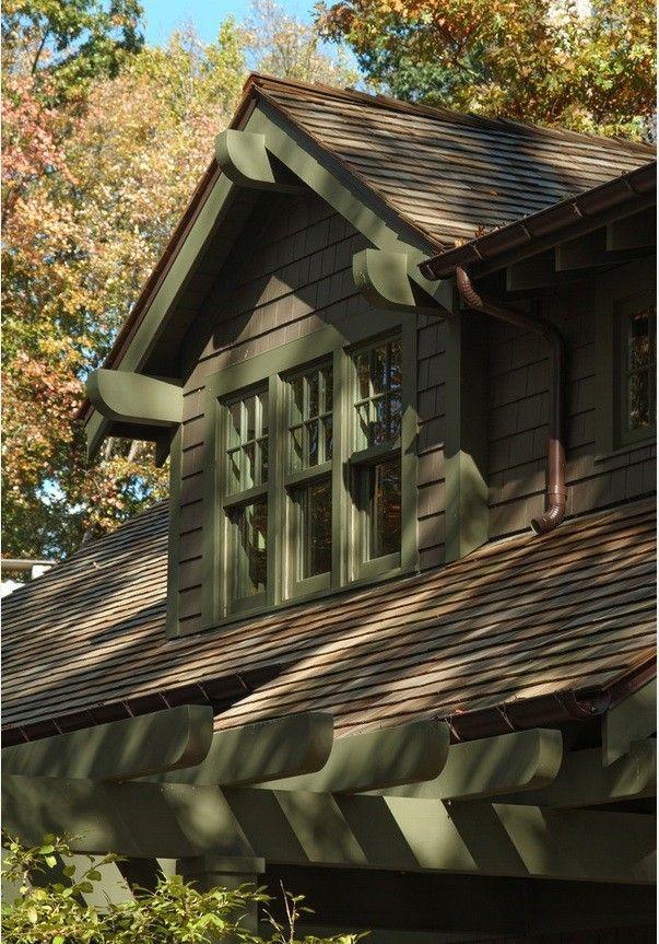 Wood Shingle Roof on Craftsman House, Gardenista