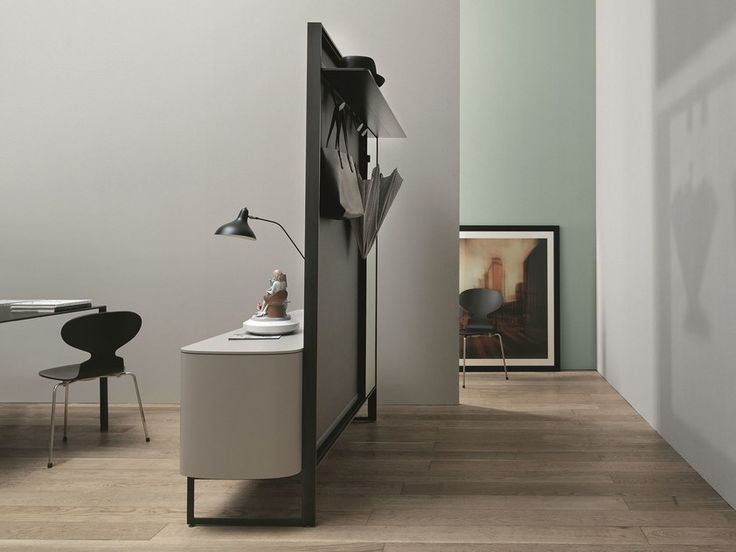 Wooden sideboard / hallway unit with doors SIDEVIEW by Caccaro