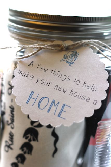 Jar of useful items for a new home - moving in present