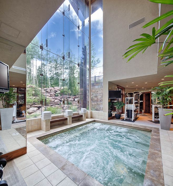 Masion With Swimming Pool: Best 25+ Indoor Hot Tubs Ideas On Pinterest