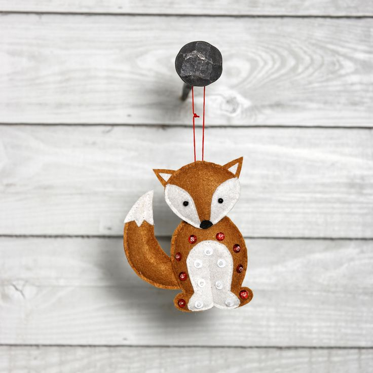 Felt Sequined Fox