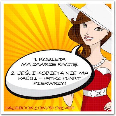 Kobiece zasady! www.facebook.com/stopcafe