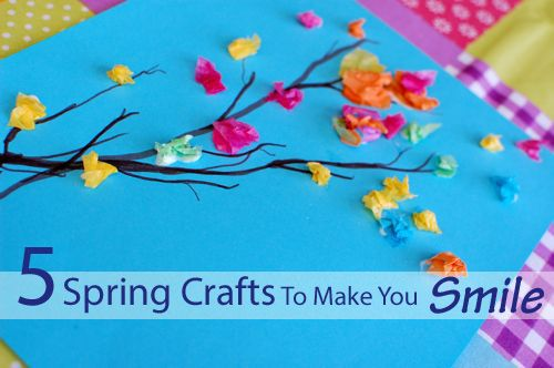 Colorful Spring Branch Craft — A beautiful way to welcome Spring! -  -  Pinned by @PediaStaff – Please Visit http://ht.ly/63sNt for all our pediatric therapy pins