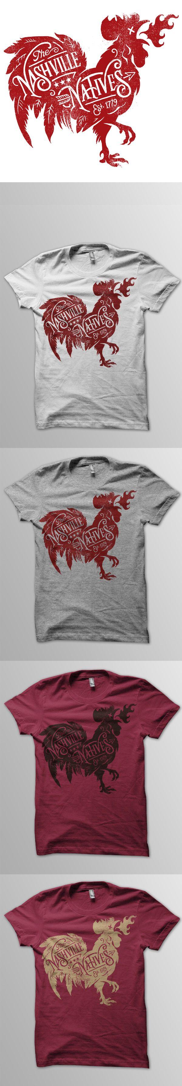 T shirt design app for ipad - Nashville Natives Tees Dribbble Chicken Nashville Natives Shirts Illustration Tee Shirt Designstee