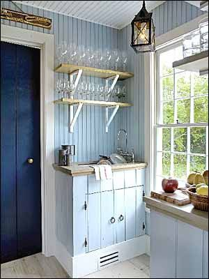 antique nautical kitchen ideas | The kitchen is so cute. Exactly what you would expect to find in such ...