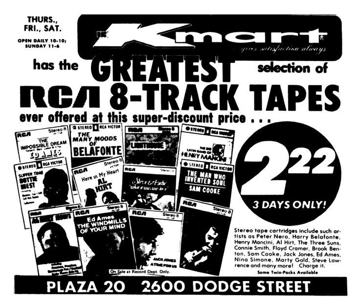 Kmart 8 Track Tapes - June 1972