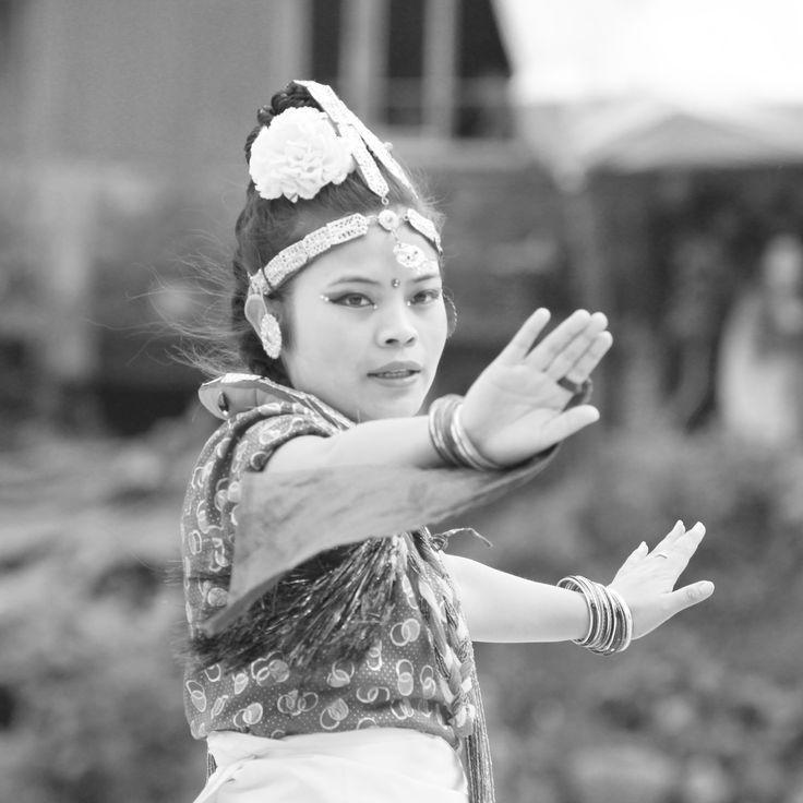 Beautiful Traditional Dance near Darjeeling, India.