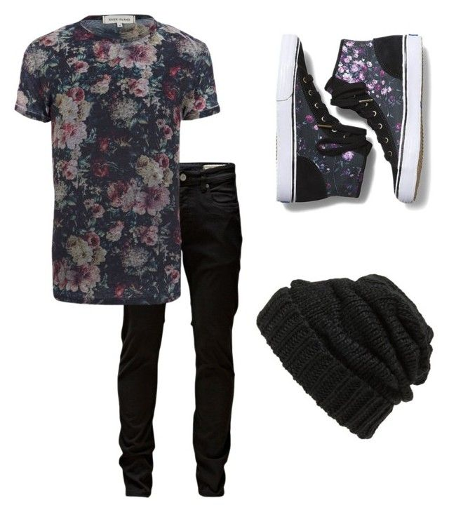 """Vintage floral androgynous"" by nevada-feasby on Polyvore featuring Leith, Jack & Jones, River Island, Keds and vintage"