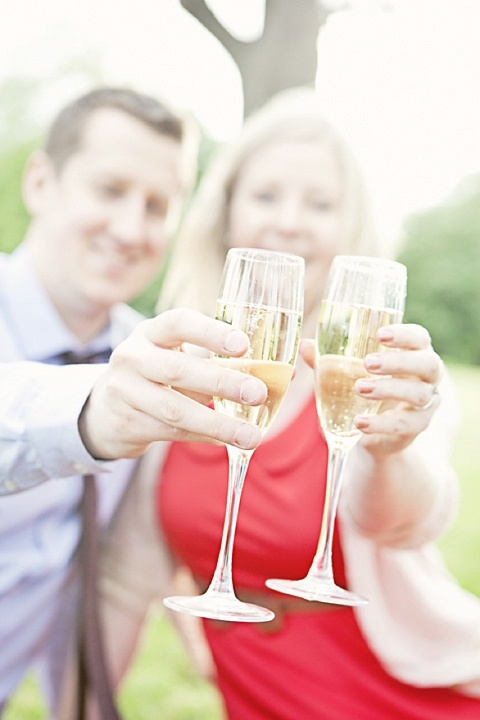 champagne engagement shoot