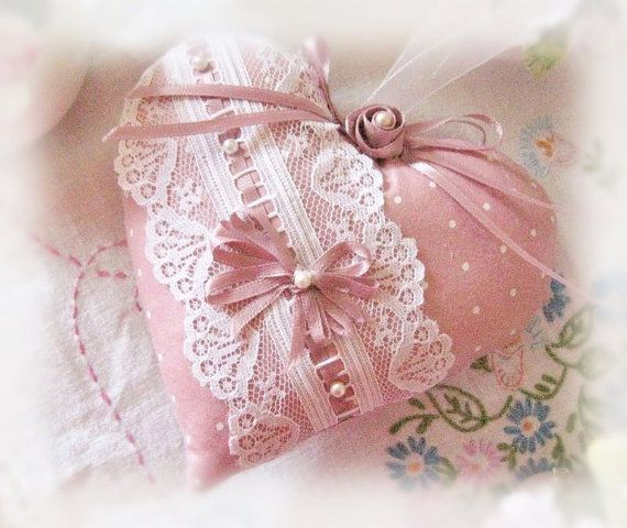Heart Sachet 5 inch Sachet Heart Mauve Pink with by CharlotteStyle